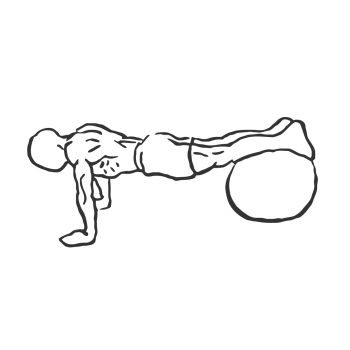 Exercise Ball Pull-In - Step 1