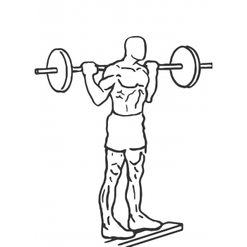 Standing Barbell Calf Raise - Step 1