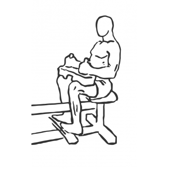 Seated Calf Raise - Step 1