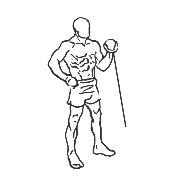Standing One-Arm Cable Curl - Step 2