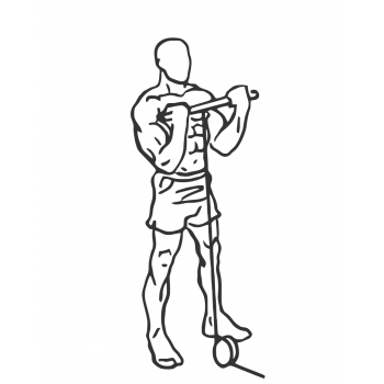 Standing Bicep Cable Curl - Step 2