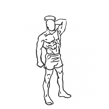 Standing One-Arm Dumbbell Triceps Extension - Step 1