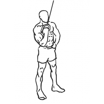 Cable One Arm Tricep Extension - Step 1