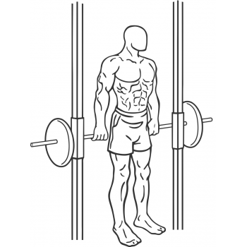 Smith Machine Hack Squat - Step 1