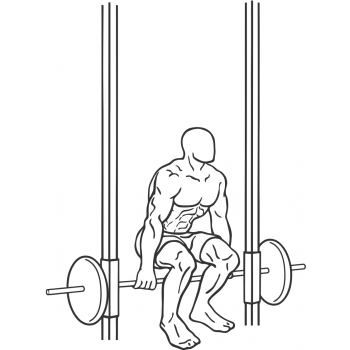 Smith Machine Hack Squat - Step 2