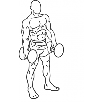 Dumbbell Lunges - Step 1