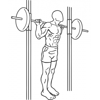 Smith Machine Good Mornings - Step 2