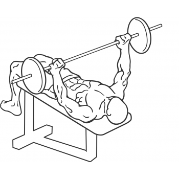 Wide-Grip Decline Barbell Bench Press - Step 1