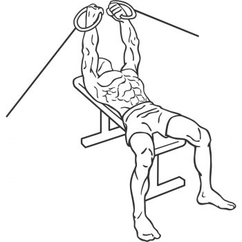 Flat Bench Cable Flys - Step 1