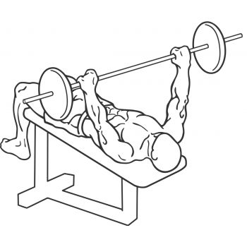 Decline Barbell Bench Press - Step 1