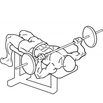 Decline Barbell Bench Press - Step 2