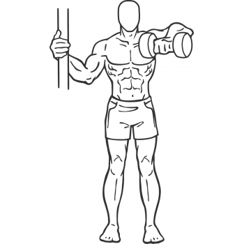 One Arm Upright Row - Step 1