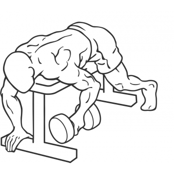 Dumbbell Lying One Arm Rear Lateral Raise - Step 2