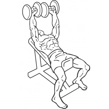 Dumbbell Incline Bench Press - Step 1