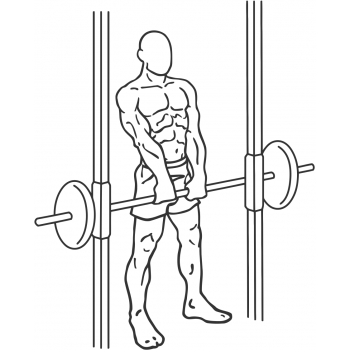 Smith Machine Upright Row - Step 2