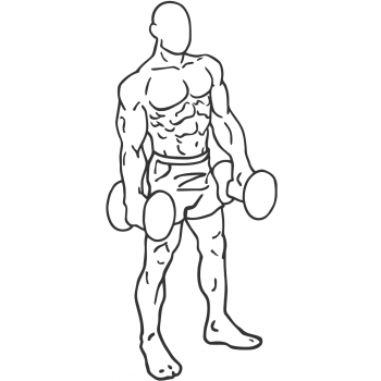 Dumbbell Shrug - Step 2